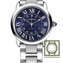 Cartier Ronde Croisière de Cartier Steel 42mm Blue Roman numerals