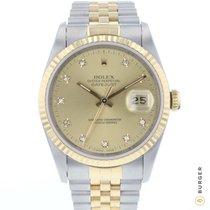 Rolex Datejust Złoto/Stal 36mm Złoty