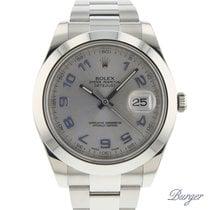 Rolex Datejust II Stahl 41mm Silber Arabisch
