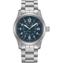 Hamilton Khaki Field Steel 42mm Arabic numerals