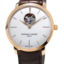 Frederique Constant Slimline Heart Beat Automatic neu 40mm Gold/Stahl