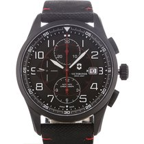 Victorinox Swiss Army Airboss 42 Chronograph Black Strap