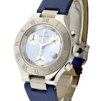 Cartier W1020013 Must 21 Chronoscaph Small Size - Steel on...