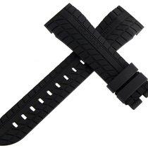 Graham Black Silverstone Rubber Strap Watch Band 24mm x 20mm LG