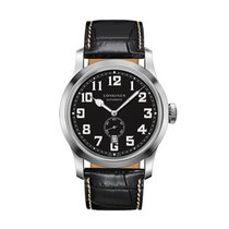 Longines Heritage Military Automatic Stainless Steel Black...