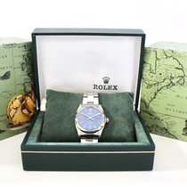 Rolex pre-owned Manual winding 34mm Blue Plexiglass 10 ATM