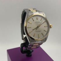 Rolex Oyster Perpetual 34 gebraucht 34mm Champagnerfarben Gold/Stahl