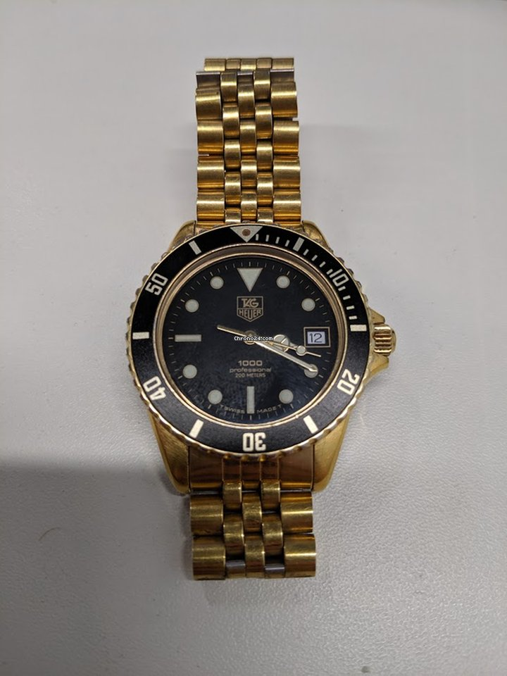 huge selection of c323e 31b21 TAG Heuer 1000 Gold Wolf of Wallstreet