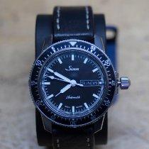 Sinn 104 pre-owned 41mm Black Date Weekday Leather