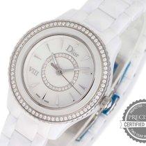 Dior Steel Quartz Mother of pearl No numerals 33mm new VIII