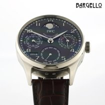 IWC Or blanc Remontage automatique 42.4mm occasion Portuguese Perpetual Calendar