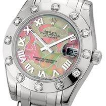 Rolex Lady-Datejust Pearlmaster Złoto białe 34mm Masa perłowa Rzymskie Polska, Krakow