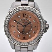 Chanel Titanium Quartz Pink Arabic numerals 33mm pre-owned J12