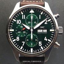IWC Pilot Chronograph Ocel 43mm Zelená Arabské