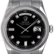Rolex Day-Date 36 36mm Black No numerals