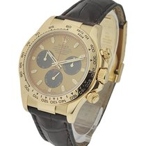 Rolex Used 116518champpaudlnew Daytona on Strap in Yellow Gold...
