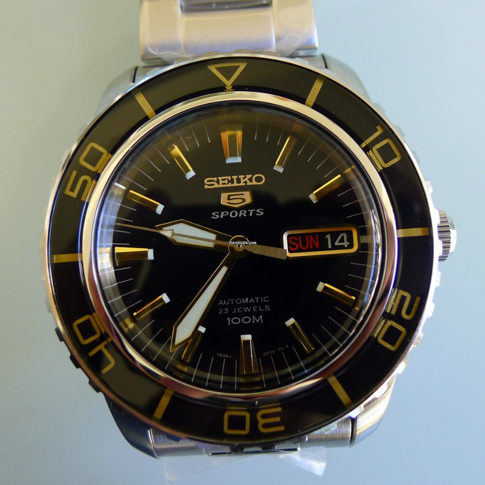 7c8000ee4 Seiko 5 Sports Submariner for $247 for sale from a Trusted Seller on  Chrono24