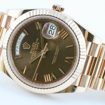 Rolex Day-Date 40 Rose gold 40mm Brown Roman numerals