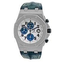 Audemars Piguet Royal Oak Offshore Chronograph Acero 44mm Blanco Árabes