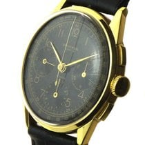 Universal Genève Yellow gold Manual winding Black Arabic numerals 38mm new Compax