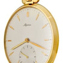 Alpina Yellow gold Manual winding Silver No numerals 47mm pre-owned