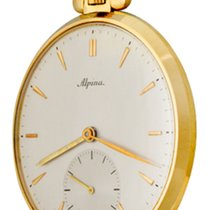 Alpina Watch pre-owned Yellow gold 47mm No numerals Manual winding Watch only