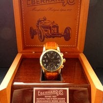 Eberhard & Co. Yellow gold Automatic Black Arabic numerals 39,5mm pre-owned Tazio Nuvolari