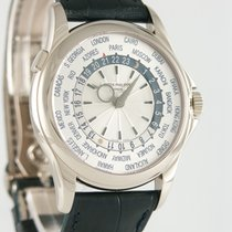 Patek Philippe World Time pre-owned 39.5mm White gold