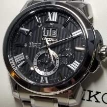 Seiko Premier Kinetic Perpetual tweedehands 42.9mm Staal