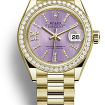 Rolex Yellow gold Automatic 28mm pre-owned Lady-Datejust
