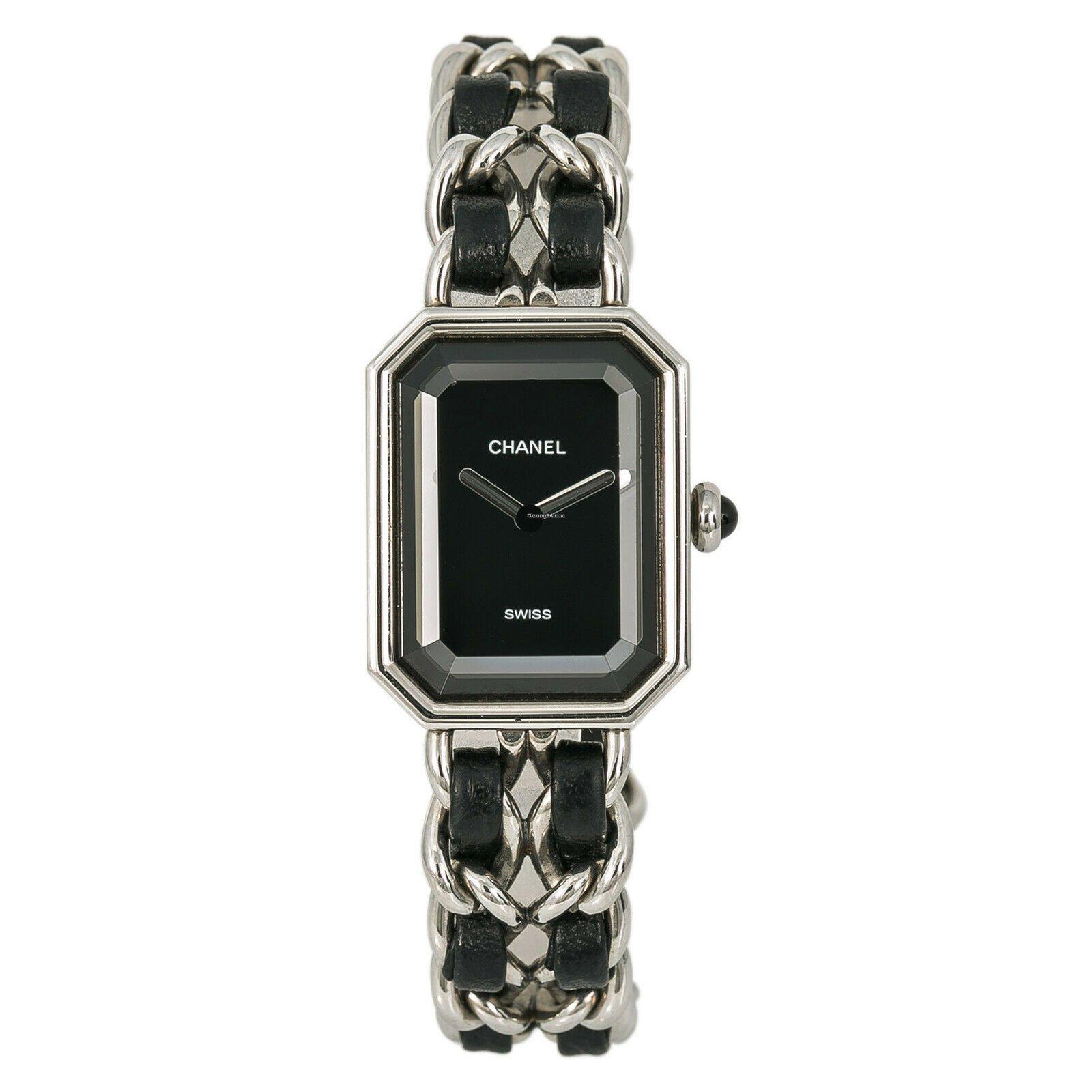 d0d462e1ba Chanel Premiere Rock H0451 Women Quartz Leather Watch Black ...