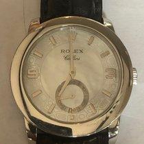Rolex Platina Rucno navijanje Sedef-biserast Arapski brojevi 35mm rabljen Cellini