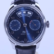 IWC Portuguese Annual Calendar Steel 44.2mm Blue Arabic numerals United States of America, New York, N qew York