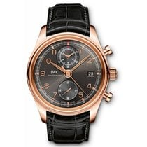 IWC Portuguese Chronograph Rose gold 42mm Grey Arabic numerals