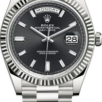 Rolex Day-Date 40 White gold 40mm Black United States of America, New York, Airmont