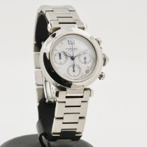Cartier Pasha C pre-owned 36mm White Chronograph Date Steel