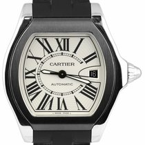 Cartier Roadster Steel 40mm Silver Roman numerals
