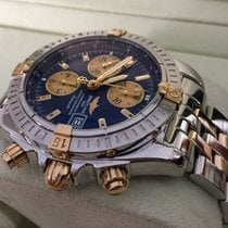 Breitling Chronomat Evolution Pilot Gold Steel Bleu Dial 44 mm...