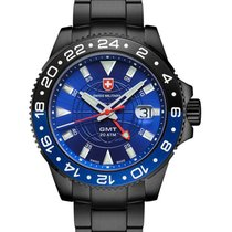 Swiss Military Cx Swiss Military Gmt Nero Swiss 42mm Watch Pvd...