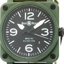 Bell & Ross Military Ceramic Rubber Automatic Mens Watch...