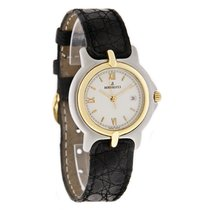 Bertolucci Pulchra Ladies White Dial Two Tone Leather Strap Watch