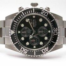 Invicta 1768 Pro Diver 3 Sub Dials Chronograph Ss Black Dial/...