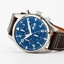 IWC Pilot Chronograph Steel 43mm Blue Arabic numerals United States of America, Virginia, Williamsburg