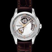Hamilton Jazzmaster Open Heart Auto Silver Steel/Leather 40mm...