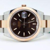 Rolex Datejust Gold/Steel 41mm Brown