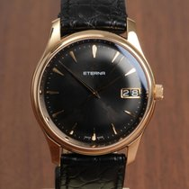Eterna Vaughan Oro rosado 42mm Negro
