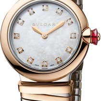 Bulgari Lucea Gold/Steel 28mm Mother of pearl Roman numerals