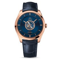 Omega De Ville Central Tourbillon 44mm Blauw