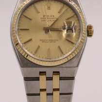 Rolex Datejust Oysterquartz Arany/Acél 36mm Pezsgőszínű Számjegyek nélkül