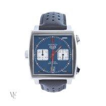 TAG Heuer Monaco Calibre 11 Steel 39mm Blue No numerals United Kingdom, London